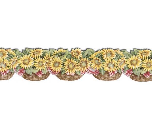 Clearance: Sunflowers Wallpaper Border CJ80030DB