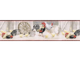 Prepasted Wallpaper Borders - Birds Wall Paper Border CJ80032B
