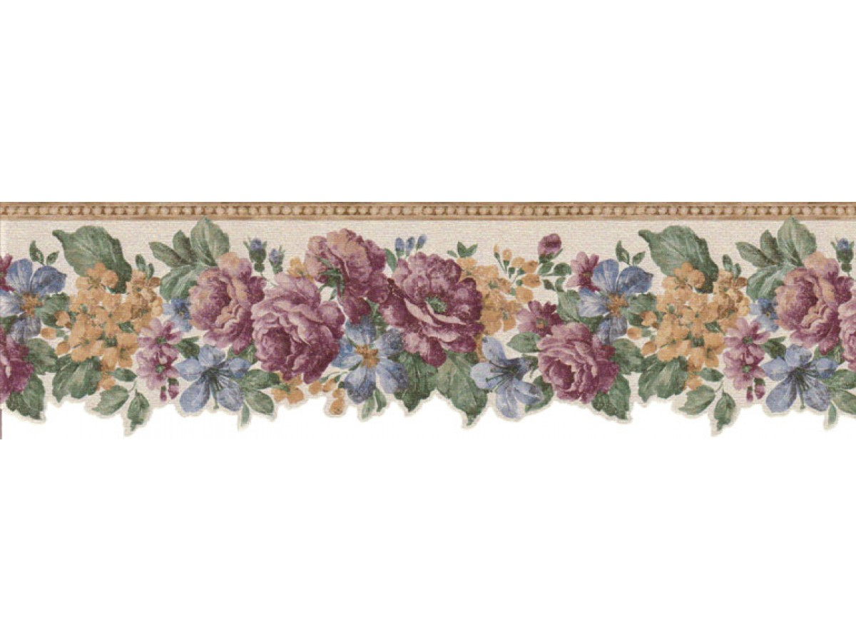 Floral Wallpaper Borders : Floral Wallpaper Border B802VC