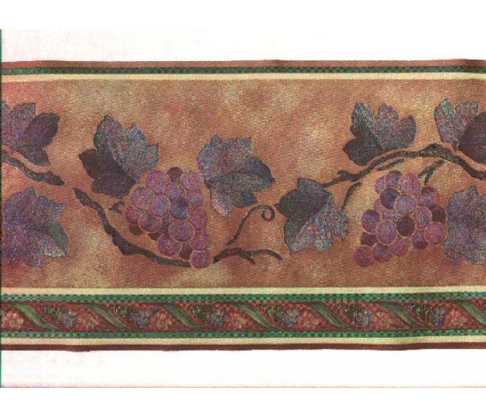 Clearance: Grape Fruits Wallpaper Border b80716