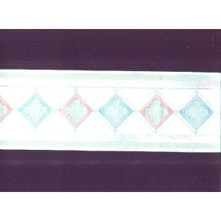 4 1/8 in x 15 ft Prepasted Wallpaper Borders - Contemporary Wall Paper Border b80753