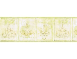 Prepasted Wallpaper Borders - Chandeliers Wall Paper Border KD8100B