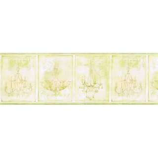 9 in x 15 ft Prepasted Wallpaper Borders - Chandeliers Wall Paper Border KD8100B