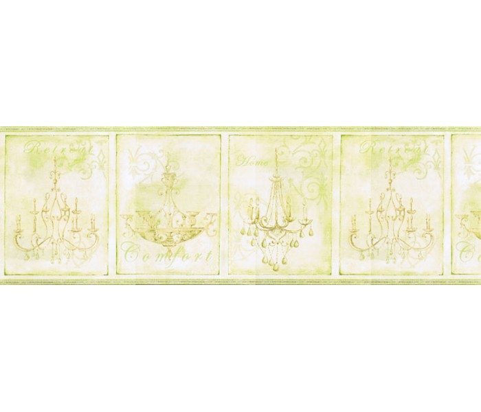 Contemporary Wall Borders: Chandeliers Wallpaper Border KD8100B
