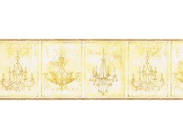 Prepasted Wallpaper Borders - Chandeliers Wall Paper Border KD8102B