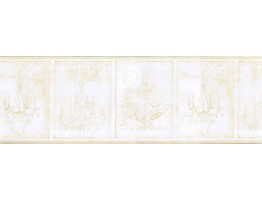 Prepasted Wallpaper Borders - Chandeliers Wall Paper Border KD8103B