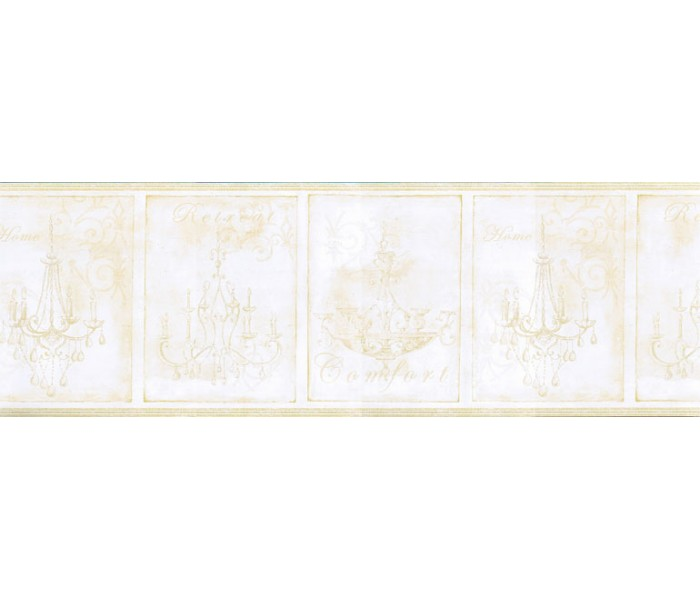 Clearance: Chandeliers Wallpaper Border KD8103B