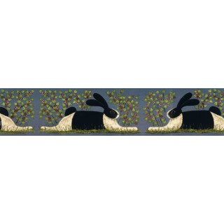 6 in x 15 ft Prepasted Wallpaper Borders - Rabbits Wall Paper Border KD8104B