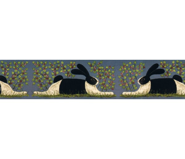 Rabbits Wallpaper Borders: Rabbits Wallpaper Border KD8104B