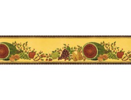 Prepasted Wallpaper Borders - Fruits Wall Paper Border KD8110B