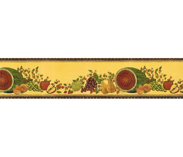 Clearance: Fruits Wallpaper Border KD8110B