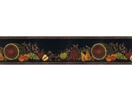 Prepasted Wallpaper Borders - Fruits Wall Paper Border KD8111B
