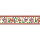 Floral Wallpaper Borders: Floral Wallpaper Border KD8124B