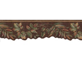 Prepasted Wallpaper Borders - Leafs Wall Paper Border VC823B