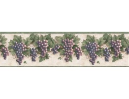 Grape Fruits Wallpaper Border VC827B