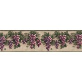 Prepasted Wallpaper Borders - Grape Fruits Wall Paper Border B828VC