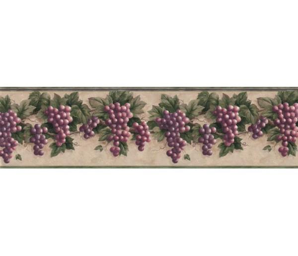 Garden Wallpaper Borders: Grape Fruits Wallpaper Border B828VC