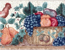 10 1/4 in x 15 ft Prepasted Wallpaper Borders - Fruits Wall Paper Border 830206