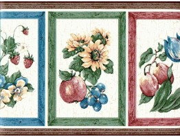Prepasted Wallpaper Borders - Fruits Wall Paper Border 830222