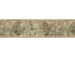 Prepasted Wallpaper Borders - Leaves Wall Paper Border FF8304B