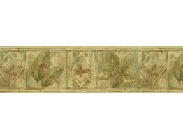 Prepasted Wallpaper Borders - Leaves Wall Paper Border FF8305B