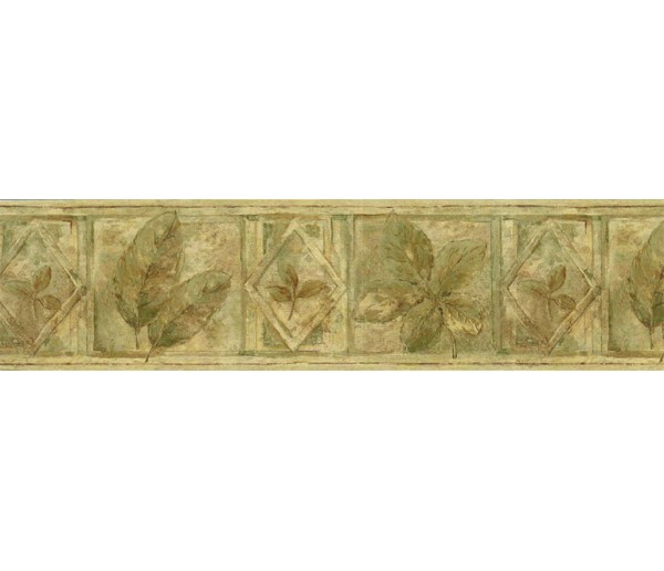 Garden Wallpaper Borders: Leaves Wallpaper Border FF8305B