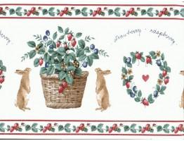 Rabbits Wallpaper Border TTCS8422B