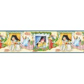 Laundry Wallpaper Borders: Country Wallpaper Border KLB8425B