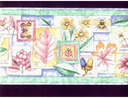 Prepasted Wallpaper Borders - Garden Wall Paper Border b8461ds