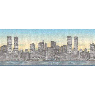 6 7/8 in x 15 ft Prepasted Wallpaper Borders - Country Wall Paper Border DHO8531