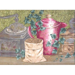 10 1/4 in x 15 ft Prepasted Wallpaper Borders - Kitchen Wall Paper Border b860227