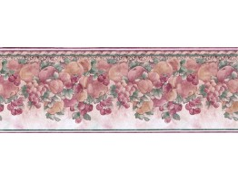 Prepasted Wallpaper Borders - Fruits Wall Paper Border Des868211