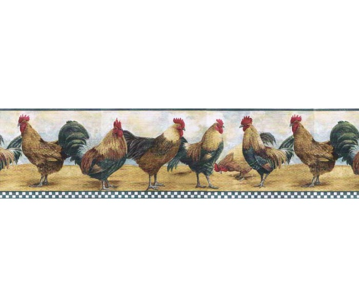 Clearance: Roosters Wallpaper Border B8711TRY