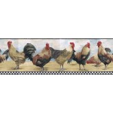 Roosters Wallpaper Borders: Roosters Wallpaper Border B8712TRY