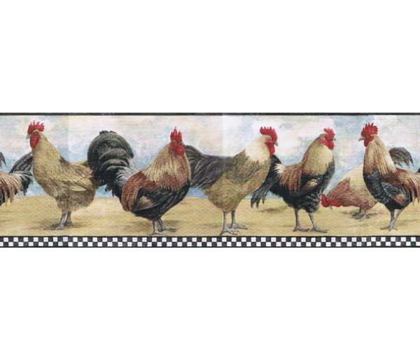 Roosters Roosters Wallpaper Border B8712TRY Norwall Group Inc.