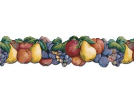 Prepasted Wallpaper Borders - Fruits Wall Paper Border BH88008B