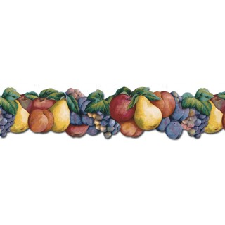 5 3/4 in x 15 ft Prepasted Wallpaper Borders - Fruits Wall Paper Border BH88008B