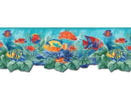 Prepasted Wallpaper Borders - Aquarium Wall Paper Border BH88023B