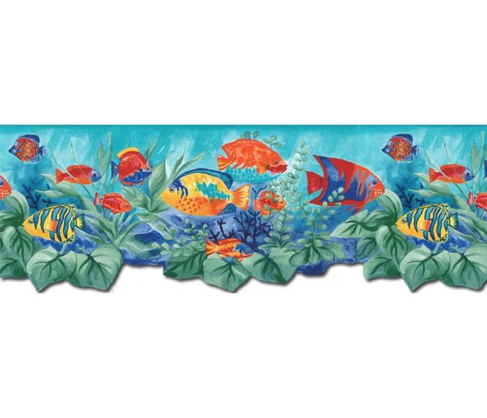 Fish Wallpaper Borders: Aquarium Wallpaper Border BH88023B