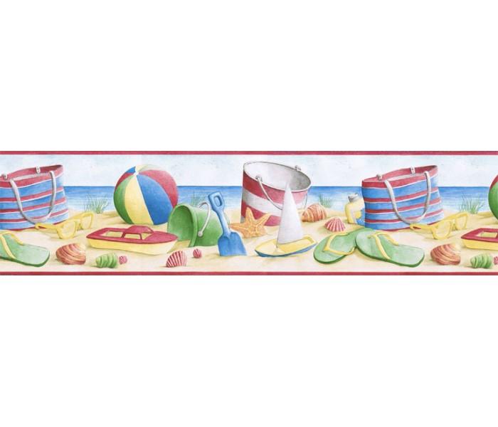 Kids Wallpaper Borders: Beach Wallpaper Border BH89000B