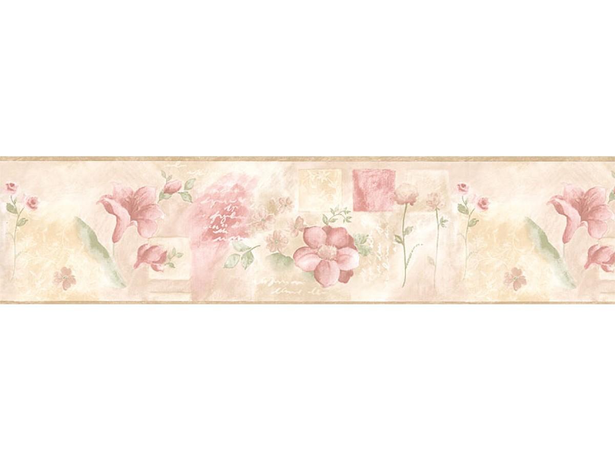 Floral Wallpaper Border Bh89009b