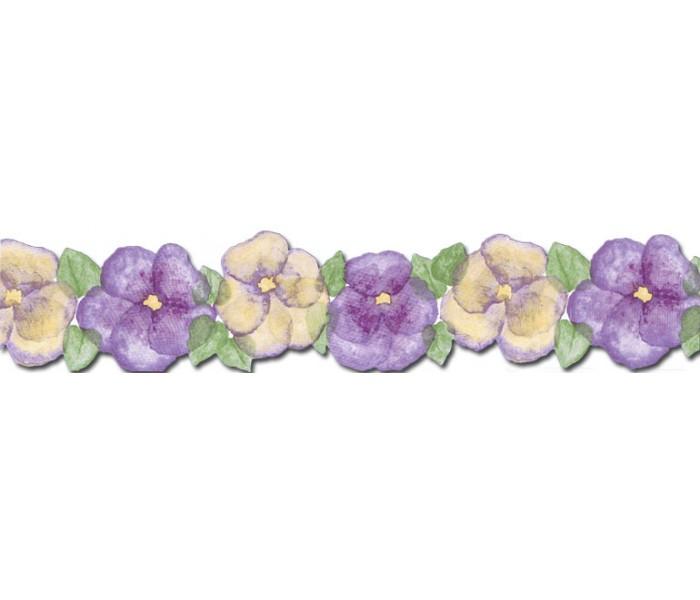 Floral Wallpaper Borders: Floral Wallpaper Border BH89015DB