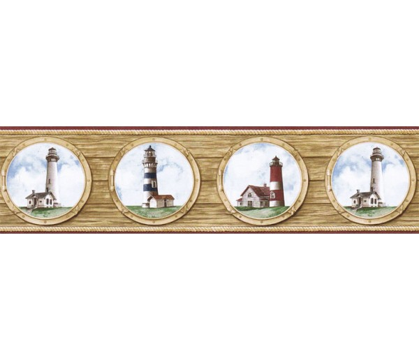 Lighthouse Wallpaper Borders: Light House Wallpaper Border BH89022B