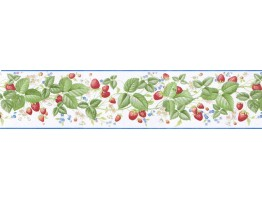 Prepasted Wallpaper Borders - Cherry Wall Paper Border B9107RKB