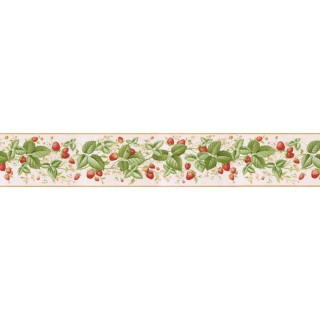 5 1/8 in x 15 ft Prepasted Wallpaper Borders - Cherry Wall Paper Border RKB9108B