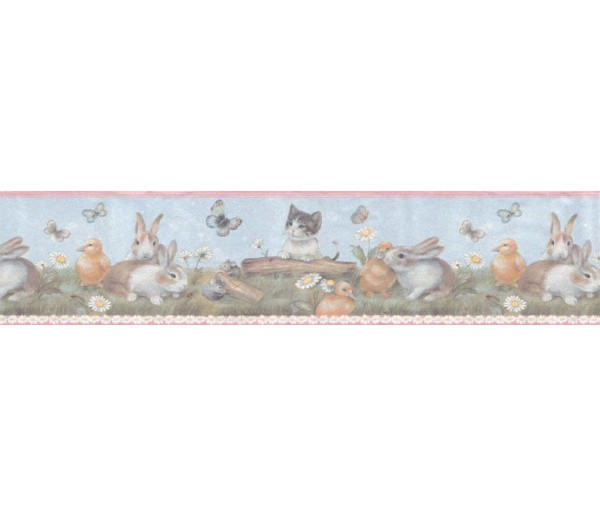 Clearance: Animals Wallpaper Border B92885