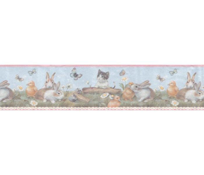 Clearance: Animals Wallpaper Border B92885