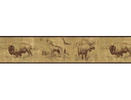 7 in x 15 ft Prepasted Wallpaper Borders - Animals Wall Paper Border b92915