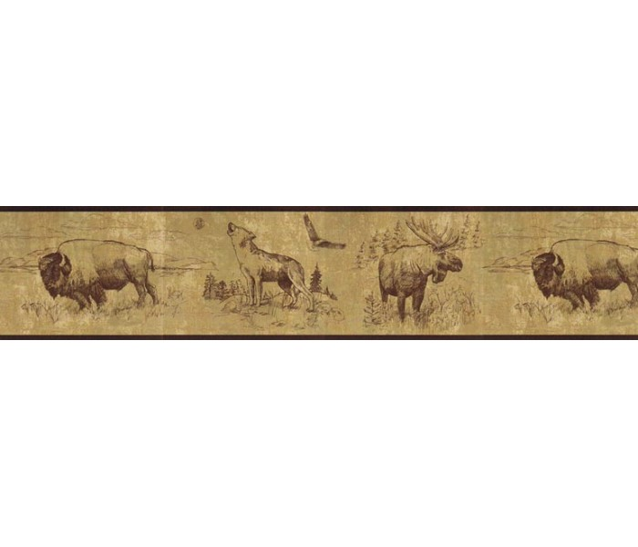 Deer Moose Wallpaper Borders: Animals Wallpaper Border b92915
