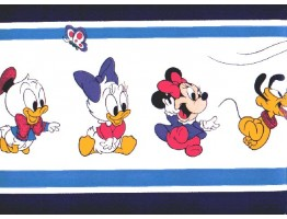 6 7/8 in x 15 ft Prepasted Wallpaper Borders - Cartoons Wall Paper Border b931wb